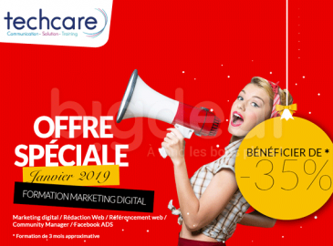 Apprenez l'art du marketing digital avec une formation de 3 mois chez Techcare training à 1625 DT